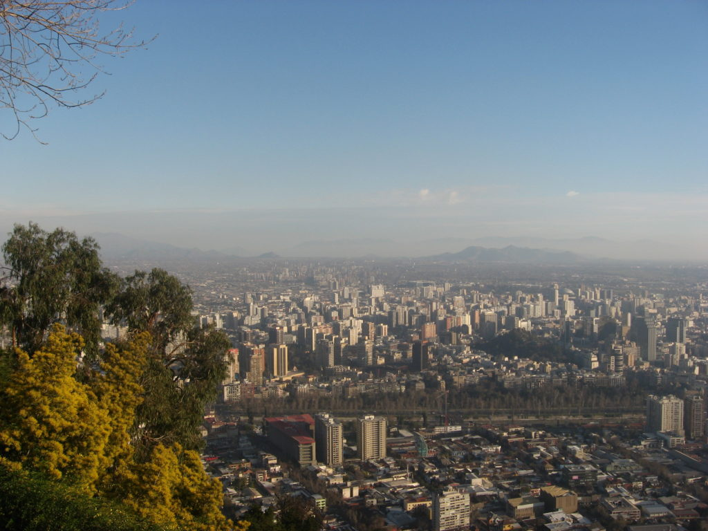 Panoramic view of Santiago (Chile)